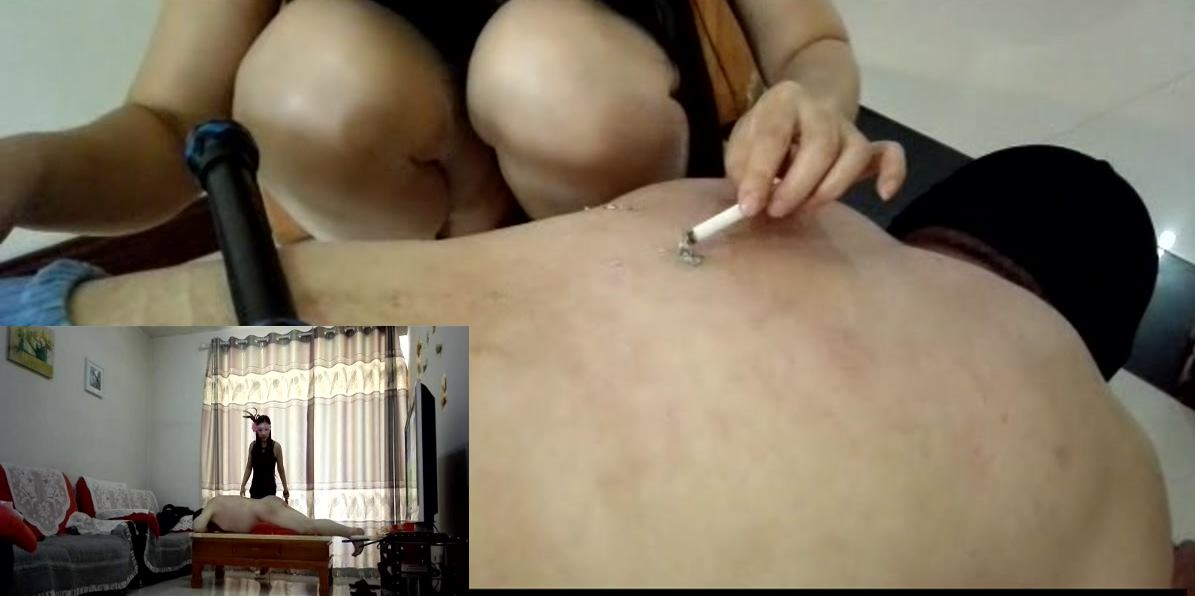 SPCN-083 Chinese Mistress whip and cigarette domination home video.